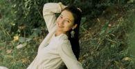 Кыргызская актриса, певица НурЧолпон. Архивное фото