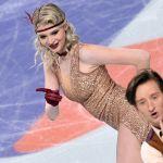 Анастасия Скопцова и Кирилл Алёшин выступают в ритмическом танце соревнований танцевальных дуэтов на чемпионате России по фигурному катанию в Челябинске.