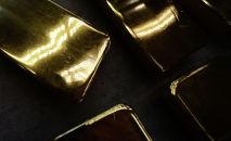 Слитки золота высшей пробы 99,99 процентов чистоты. Архивное фото