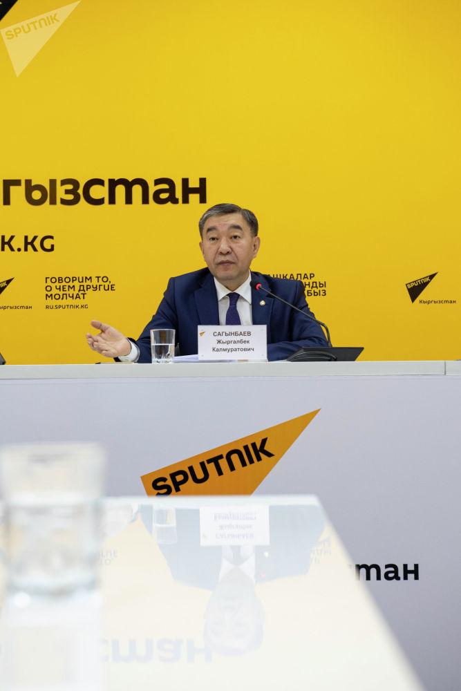 Председатель Государственного комитета промышленности, энергетики и недропользования Жыргалбек Сагынбаев