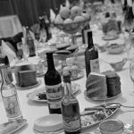 Ресторандагы муздак тамак-аштар бар банкеттик стол. 1963-жыл