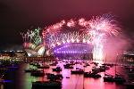 Салют во время празднования Нового 2021 года в Австралии