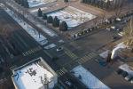 Пересечение проспекта Чуй и улицы Панфилова в Бишкеке. Архивное фото