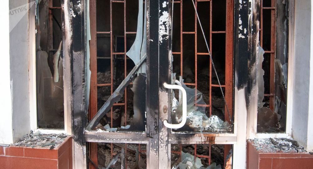 Последствия пожара в здании. Архивное фото