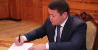 Президенттин милдетин аткаруучу Талант Мамытов. Архив