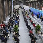 Пекин шаарындагы вакцина алуучу жай