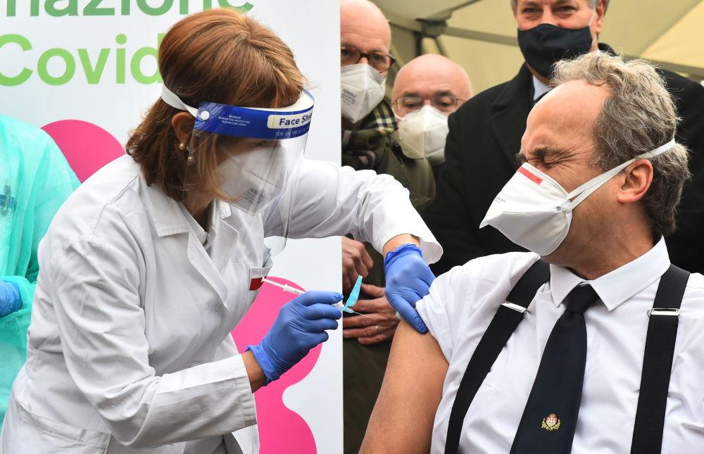 Италиядагы вакцинация