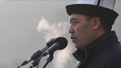Президенттик шайлоодо утуп чыккан Садыр Жапаров. Архив