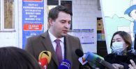 И. о. премьер-министра Артем Новиков проголосовал на выборах президента и референдуме. После этого он ответил на несколько вопросов журналистов, в том числе о своем будущем.