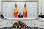 И. о. президента КР, торага Жогорку Кенеша Талант Мамытов встретился с главами миссий международных наблюдателей.