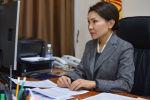 Вице-премьер-министр КР Эльвира Сурабалдиева на заседании Республиканского оперативного штаба