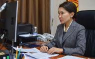 Вице-премьер-министр Эльвира Сурабалдиева. Архивдик сүрөт