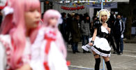 Косплееры принимают участие в карнавальном шествии в Ханое.