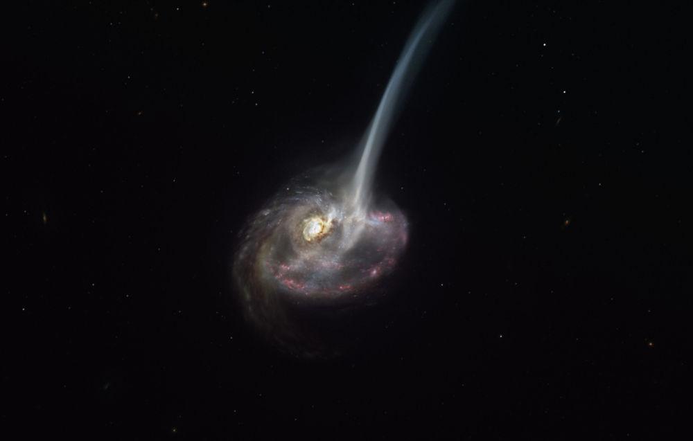 Окумуштуулар биринчи жолу жок болуп бара жаткан галактиканы сүрөткө тартып алышты