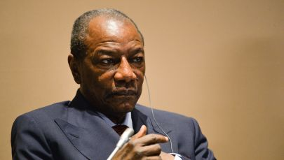 Архивное фото президента Гвинейской Республики Альфы Конде