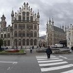 Вид на ратушу в Левене (Бельгия). Городок находится в провинции Фламандский Брабант и является одним из университетских центров Бельгии.