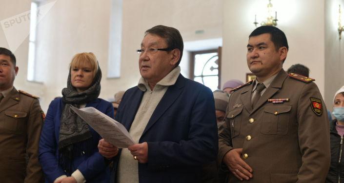 Церемония вручения православной церкви списков имен 99 военнослужащих Киргизской ССР без вести пропавших в годы ВОВ