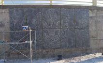 Борбор калаадагы Ынтымак-2 жаңы паркында этникалык стилде жасалгаланган арт-объект пайда болот