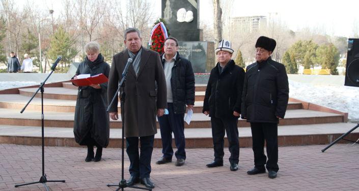 В парке Победы имени Даира Асанова состоялся митинг-реквием, посвященный 78-й годовщине прорыва блокады Ленинграда, сообщили в представительстве Россотрудничества в Кыргызстане