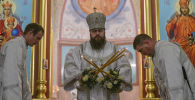 Бишкекте православдар Крещение майрамын белгилешти. Чиркөөдөн сүрөттөр