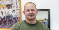 Специалист по пищевой безопасности Артем Кичигин в офисе Sputnik Кыргызстан