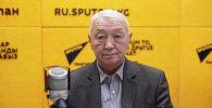 Доктор медицинских наук, профессор, доцент кафедры ЛОР-болезней Жумабек Сулайманов во время беседы на радио Sputnik Кыргызстан