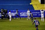Хуанан из Алькояно празднует победу, забив второй гол своей команды, выбивший Реал Мадрид во время испанского Кубка Испании 32 раунда футбольного матча между Алькойано и Реалом на стадионе Эль-Коллао в Алькой. Испания, 20 января 2021 года