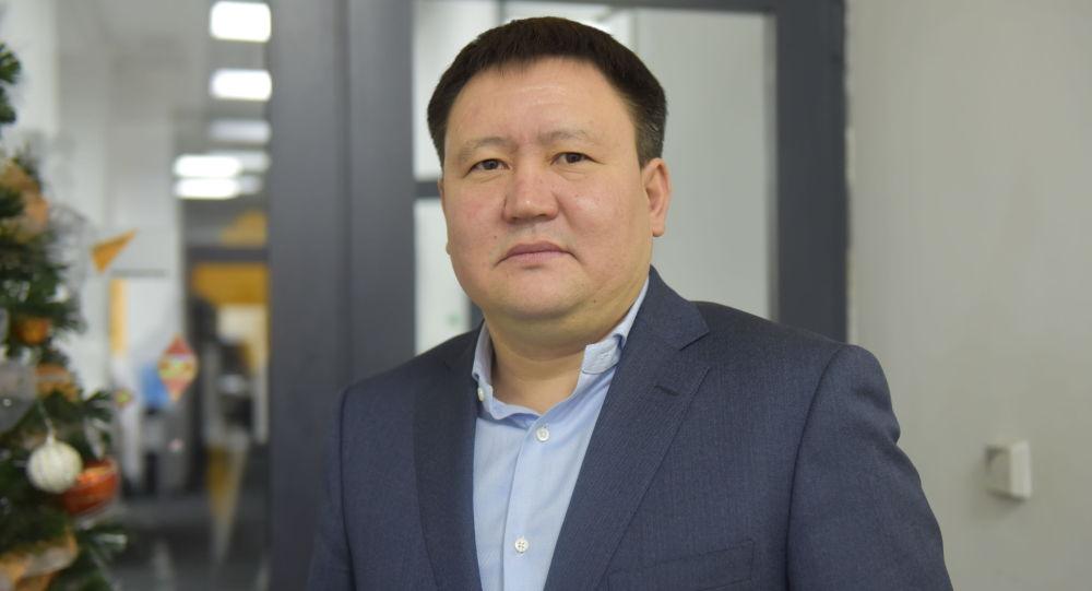 Председатель правления РКФР Нурлан Мамытов в офисе Sputnik Кыргызстан