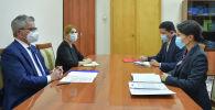 И.о. вице-премьер-министра Эльвира Сурабалдиева встретилась с Главой Регионального отделения УВКПЧ для Центральной Азии Ришардом Комендой