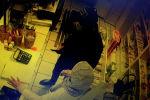 По данным милиции, 18 января двое мужчин угрожая ножом, забрали 10,3 тысячи сомов из кассы, 500 из сумки продавщицы и наручные часы.