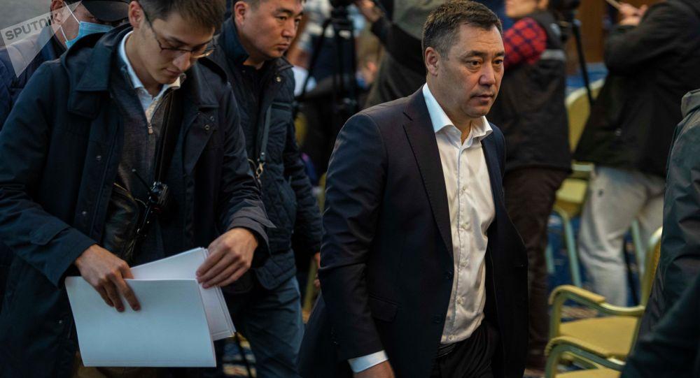 Кыргызстандын жаңы шайланган президенти Садыр Жапаров. Архив