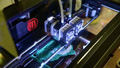 Печать на 3D-принтере. Архивное фото
