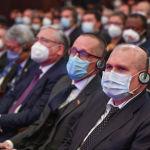 Гости в Большом зале Национальной филармонии, во время церемонии инаугурации избранного президента Кыргызстана Садыра Жапарова
