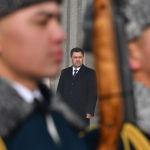 Избранный президент Кыргызстана Садыр Жапаров на церемонии инаугурации в Большом зале национальной филармонии