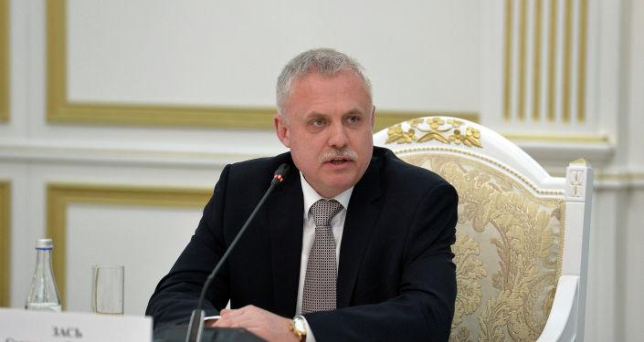 Генеральный секретарь ОДКБ Станислав Зась на встрече с президентом КР. 28 января 2021 года