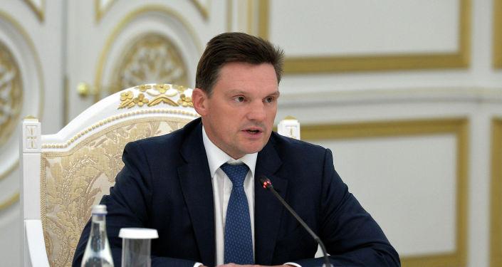Председатель Правления Евразийского Банка Развития Николай Подгузов на встрече с президентом КР. 28 января 2021 года