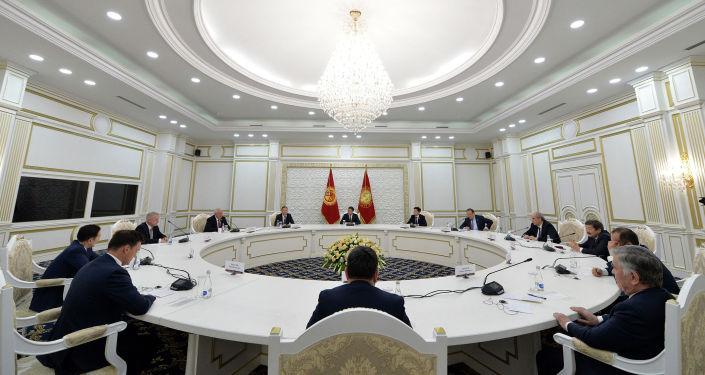Президент Кыргызской Республики встретился с главами международных организаций. 28 января 2021 года