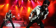Рок группа Scorpions выступает в Универсальном амфитеатре в Юниверсал-Сити, Калифорния. Архивное фото