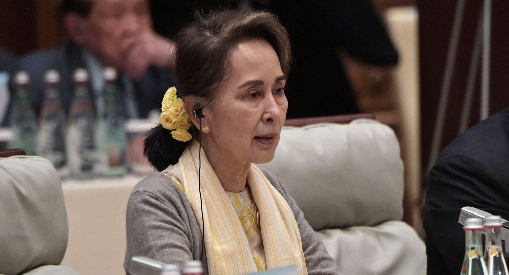 Государственный советник Мьянмы Аунг Сан Су Чжи. Архивное фото