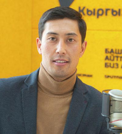 Ведущий программы Спортбокс Асылбек Бактыбеков