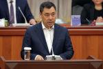 Президент Садыр Жапаров во время выступления в парламенте