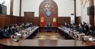 Президент Садыр Жапаров на рабочем совещании с новым составом правительства