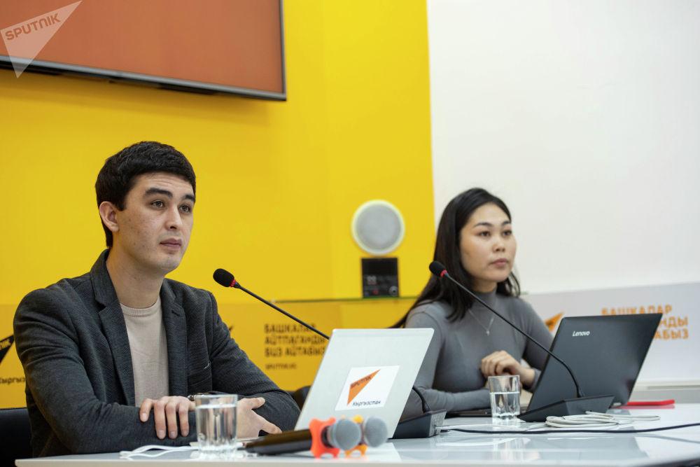 Модераторы мероприятия Асель Сыдыкова и Алимджан Валиев