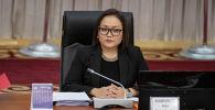Вице-спикер Жогорку Кенеша Аида Касымалиева на заседании ЖК
