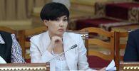 Исполняющая обязанности председателя Счетной палаты КР Айжан Садыркулова. Архивное фото