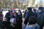 Митинг у Дома правительства за отставку Тулобаева