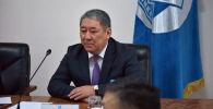 Бишкек мэринин милдетин аткарып алуучу Бактыбек Кудайбергенов