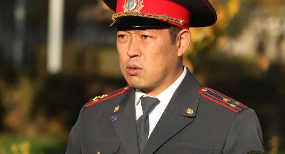 Ички иштер министрлигинин Россиядагы өкүлү Нурлан Жанбаев. Архив