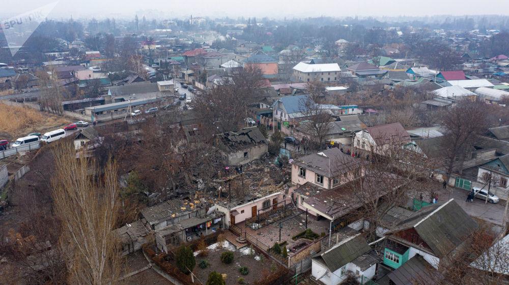 Под Бишкеком в частном доме произошел сильный взрыв