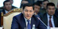 Бывший глава ГКНБ Абдиль Сегизбаев на заседании правительства КР. Архивное фото